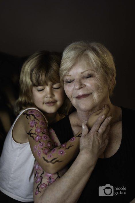 body painting abuela nieta