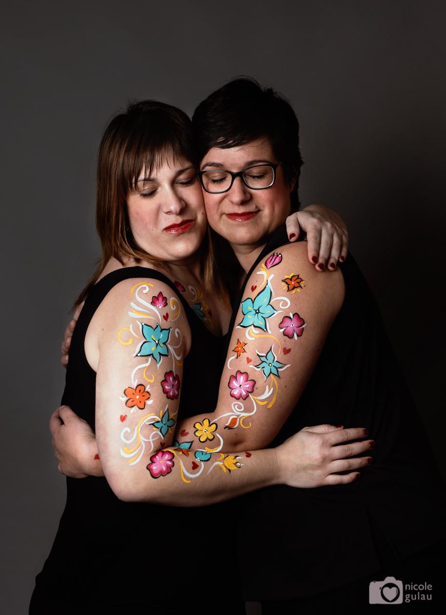 body painting hermanas